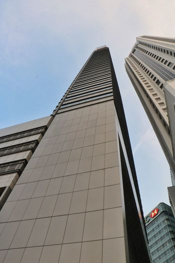 Architecture Low Angle View Built Structure Building Exterior City Modern Skyscraper Tower Sky Tall Outdoors No People Day The Purist (no Edit, No Filter) EyeEmNewHere Travel Singapore Travel Destinations Urban Skyline The Architect - 2017 EyeEm Awards