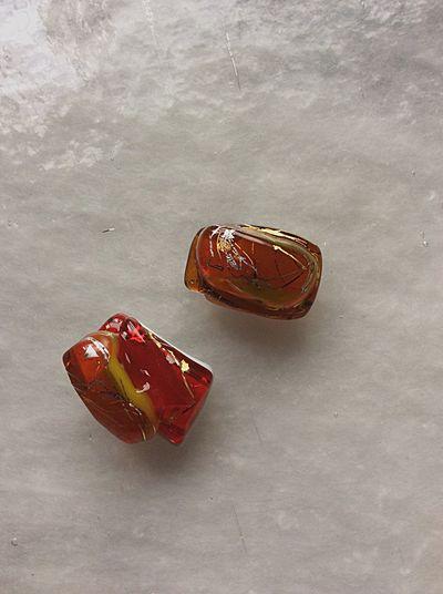 Traditional Craft Gold Leaf Handmade Crafts Handmade Jewellery Glass Craft Glass Art Sash Clip Obidome Japan