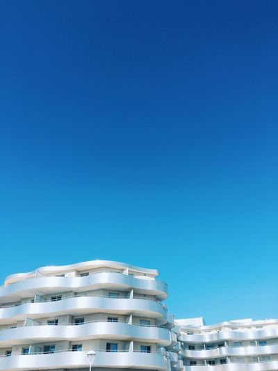Building Modern Architecture Blank Copy Space Copy Space Empty Blue Sky Blue Vertical Building Outdoors Apartment Sunlight