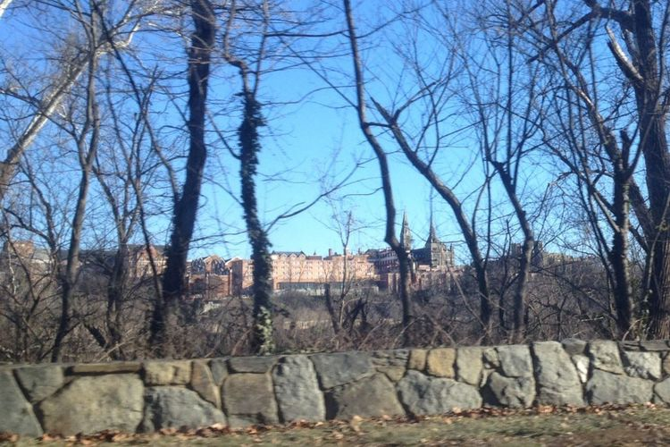 Georgetown On The Road Sunday Morning On The Way To Church Cold Winter Day