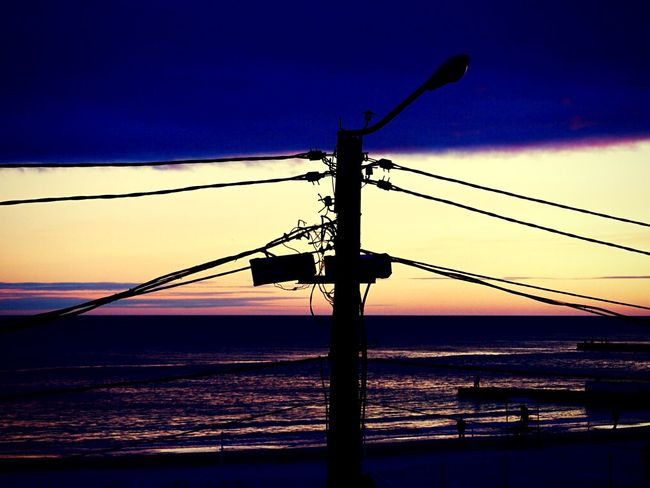 «Закат #5». Cable Connection Sunset Sky Silhouette No People Outdoors