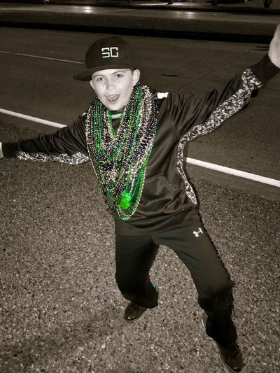 Full Length Real People One Person Lifestyles Leisure Activity Outdoors Day Young Adult Check This Out Christian Kustomz Mardi Gras Parade Shreveport Krewe Of Gemini