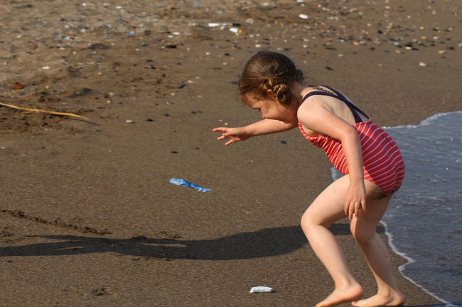 EyeEm Selects Child Childhood Full Length Beach Girls Sand Summer Water Fun Side View