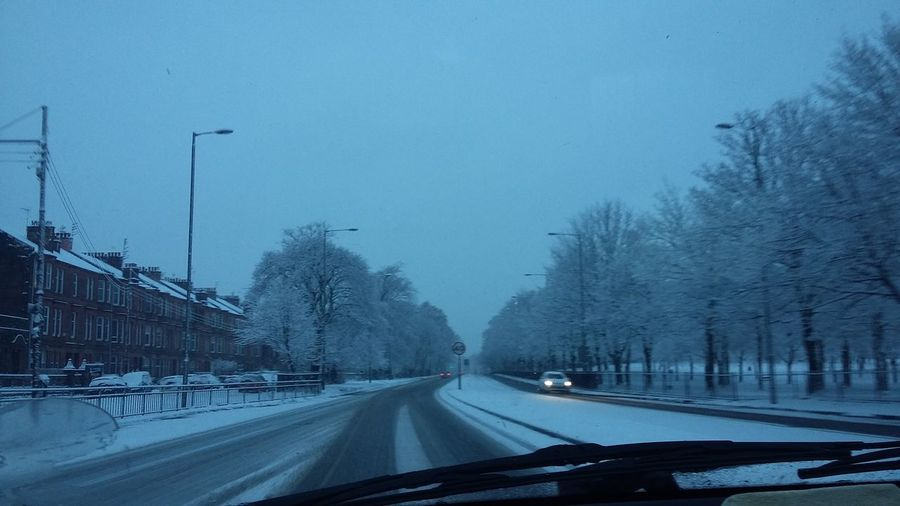 Snow Winter Eventually Driving Home Outdoors Inthecar Winter Wonderland Long Day Glasgow  Scotland