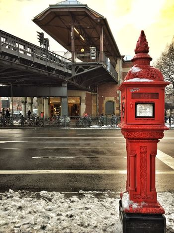 Architecture Berlin Berliner Ansichten Building Exterior Built Structure Day Fire Hydrant No People Outdoors Red Schlesisches Tor Sky Telephone Booth