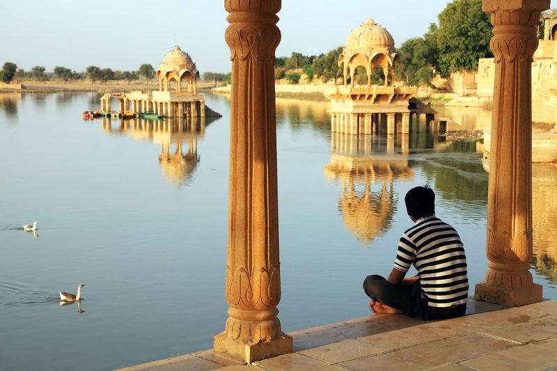 Canon Built Structure Day Gadisagar Gadisagar Temple Gadisarlake Hindu Hinduism India Jaisalmer Landmark Sacred Thar Thar Desert Tourism Touristic Destination Travel Travel Destinations Travel Photography
