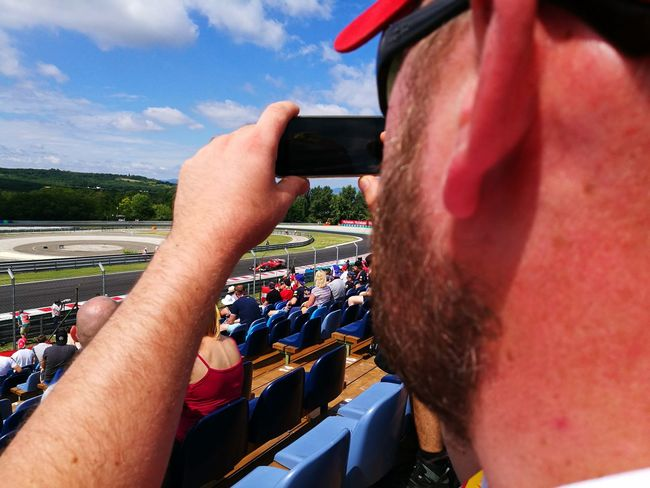 Moment of stillness Motorsport Hungaroring Formula1 EyeEmNewHere Vehicle EyeEm Selects Human Body Part Human Hand Day Point Of View Outdoors Photographing Technology