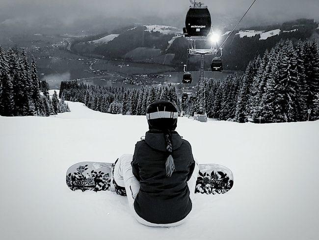 Snowboardgirl Winter Wonderland Flachau Winter2016 ❄ Austria ❤ Snowboarding Mountain View