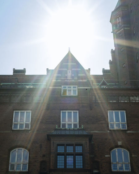 Architecture Bright Building Building Exterior Built Structure City Copenhagen Day History Lens Flare Low Angle View Nature No People Outdoors Residential District Sky Solar Flare Streaming Sun Sunbeam Sunlight Sunny The Past Window