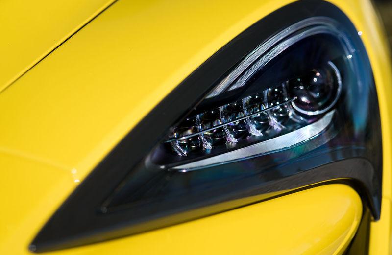 Close-up of yellow car