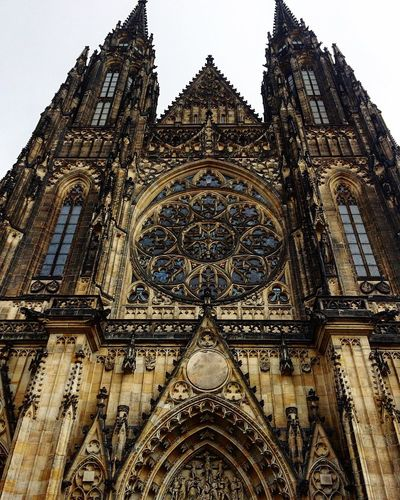 Place Of Worship Spirituality Architecture Low Angle View Travel Destinations EyeEmNewHere Prague Czech Republic Travel No People Rose Window Outdoors Beautiful
