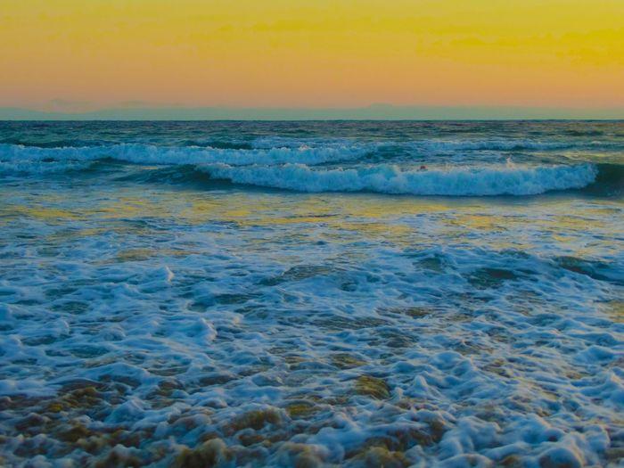 My Favorite Place Tranquil Scene Horizon Over Water Scenics Sea Sunset