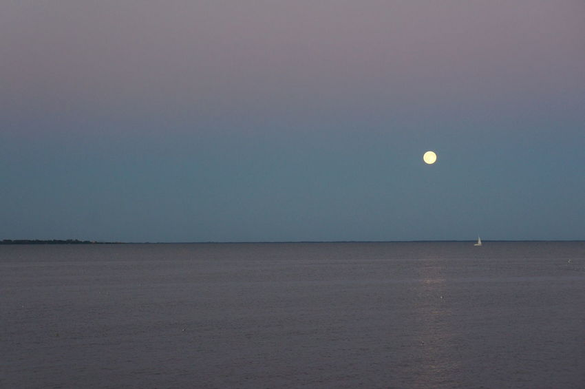 Beauty In Nature Moon No People Scenics Sea Tranquil Scene Tranquility