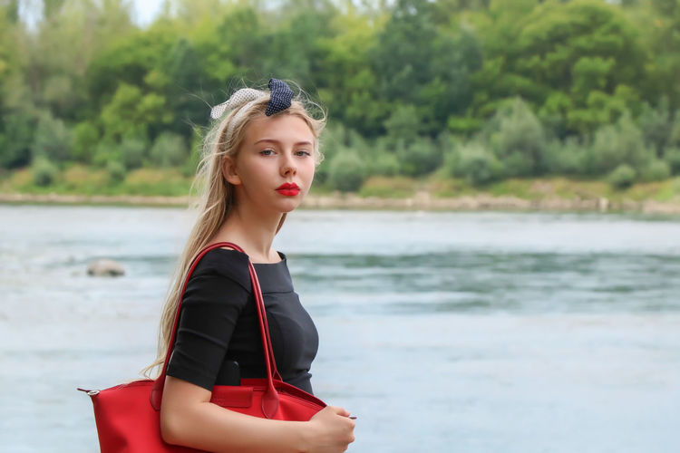 Red Bag Vistula Vistula River Beach Beautiful Woman Beauty Contemplation Day Focus On Foreground Hair Hairstyle Land Leisure Activity Lifestyles Nature One Person Outdoors Portrait Real People River Sea Water Women Young Adult Young Women