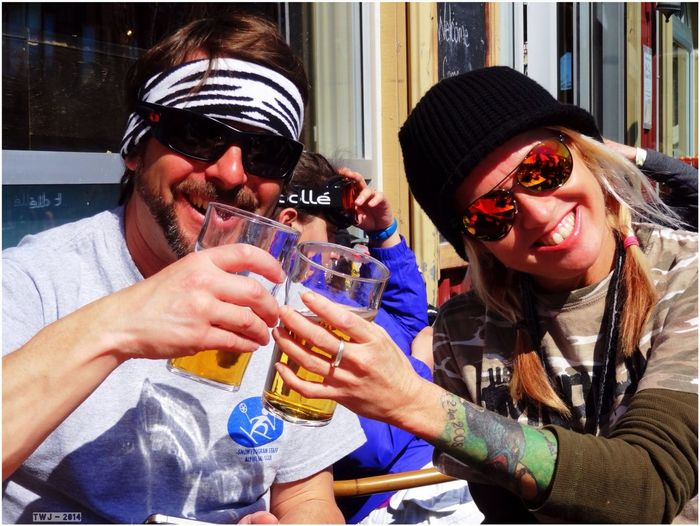 People Apres Ski Michael And Lori Enjoying The Sun