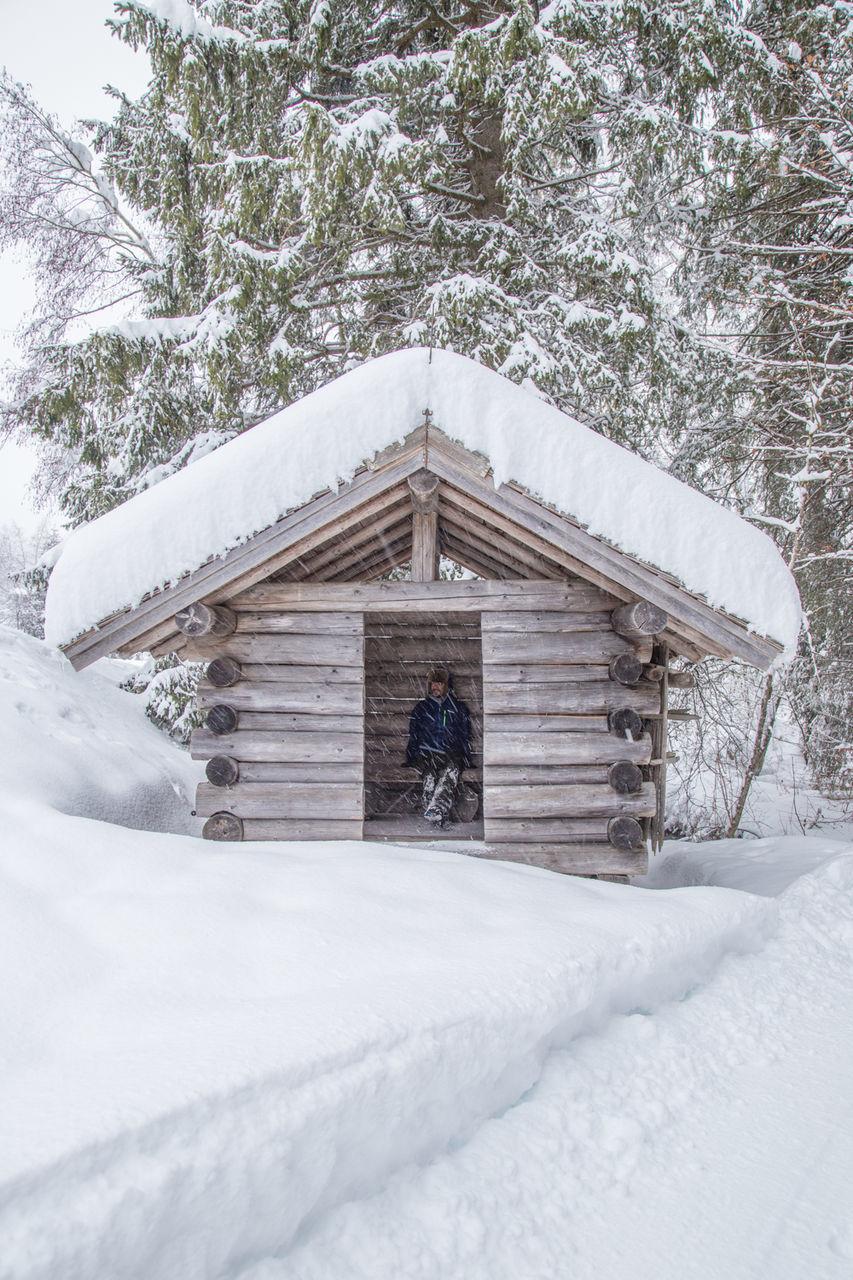 MAN IN SNOW