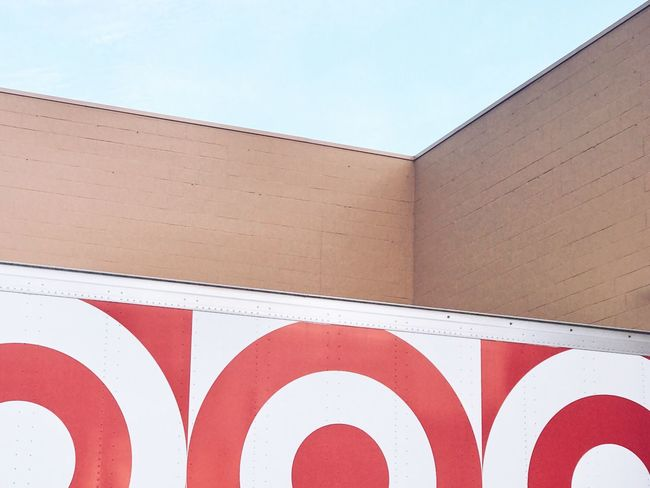 The Architect - 2018 EyeEm Awards EyeEm Selects No People Architecture Red Built Structure Building Exterior Minimalobsession Minimalism Minimal Wall Day White Color Clear Sky Sky Blue