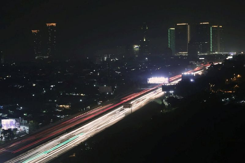City Cityscape Motion Long Exposure Speed Light Trail Road City Life Traffic