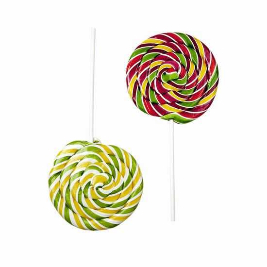 Sweet Food Multi Colored Lollipop Studio Shot Spiral Food And Drink Unhealthy Eating White Background Snack Food Freshness Swirl Sweets Confectionery Symmetry Opposite Two Pair Colorful
