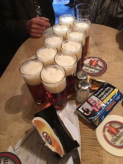 ALTBier Düsseldorf Altbier Table Food And Drink Indoors  Food High Angle View Drink Drinking Glass The Week On EyeEm Real People Human Body Part One Person Close-up Ready-to-eat Human Hand Day Füchschen Alcohol Latte Focus On Foreground Indoors  Food And Drink 11.11.17 Hoppeditz 17