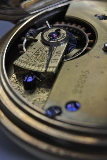 Gold pocket watch taken on Nikon 1 J2 plus 10mm extension tube Pocket Watch Antique Watch Mechanisms Technology Close-up Pocket Watch Watch