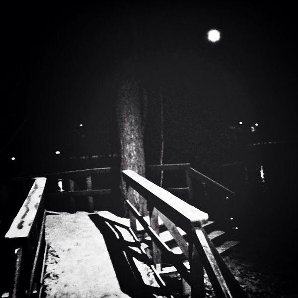 Moon Blac&white  Black And White