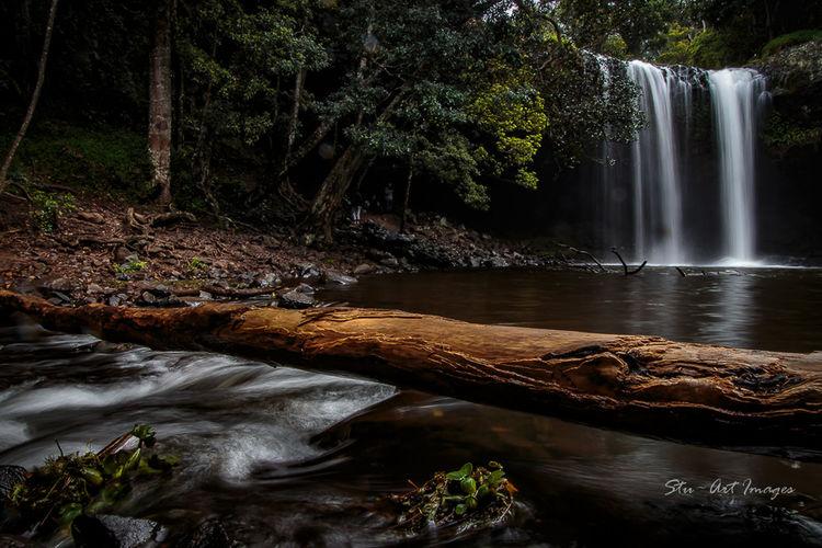 Serenity Taking Photos Warerfall Killen Falls Nsw Byron Bay Australia Rocks Water_collection Logs Creek