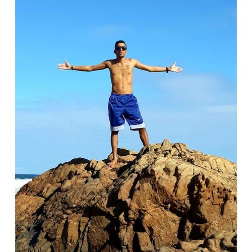 Sportsman Athlete Muscular Build Men Full Length Sport Healthy Lifestyle Exercising Standing Shirtless