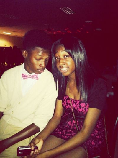 me and Damion at the dance