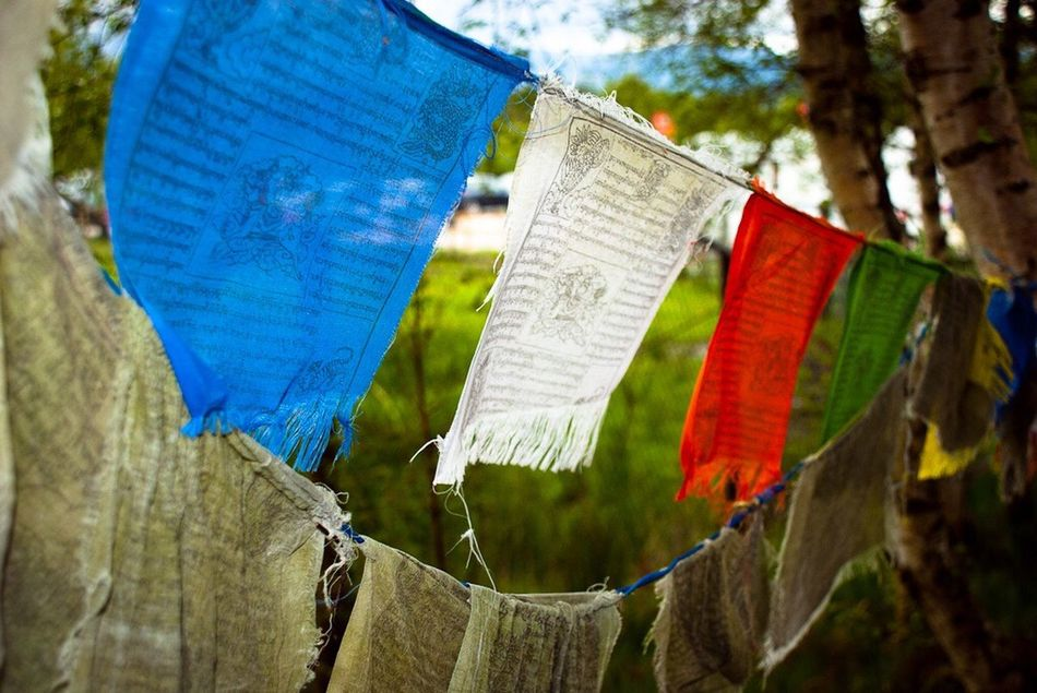 Tibetan Prayer Flags Tibetan  Prayer Flags  Material Red Blue
