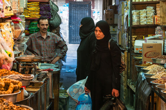 Composition Cultures Lifestyles Market Real People Smell Spices Syria  Women