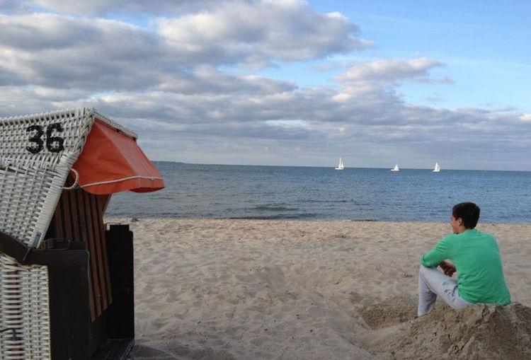 Weitblick, Hope Beach Blick Coastline Enjoyment Horizon Horizon Over Water Horizont  Meer Ocean Ostsee Outdoors People Sand Sea Summer Vacations Water Weekend Activities
