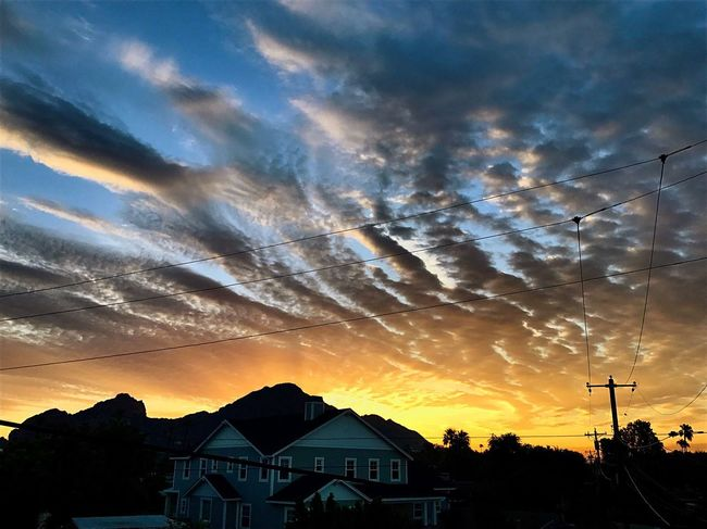 Sunrise Cloud - Sky Beauty In Nature Camelback Mountain Silhouette No People Outdoors Nature Day