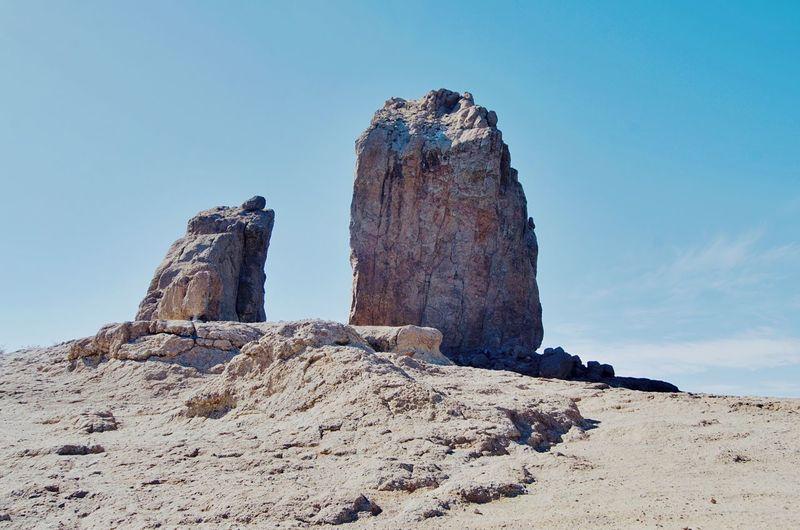 Rock against sky