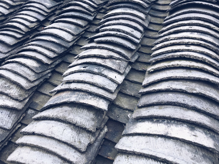Processed with VSCO with a5 preset Roof Tile Pattern Close-up High Angle View Large Group Of Objects Repetition Roof Architecture Detail