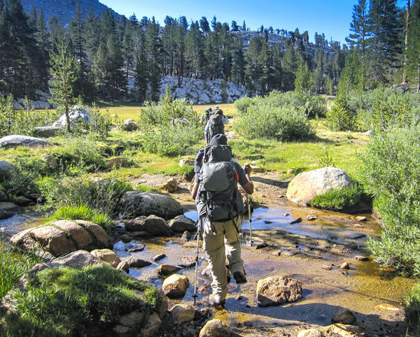 Views capture on the trail in Kings Canyon, Sequoia, and Inyo National Parks in California Ansel Adams Inspired Bishop, Ca California Inyo National Forest Mount Whitney National Park Rock Formation Sequoia & Kings Can Travel Photography Black And White Photography Day Environmental Conservation High Angle View Hikers Hikingadventures Landscape_photography Magazine Shoot Mules Nature Outdoors Rock - Object Stream - Flowing Water Train Tranquil Scene View From Above