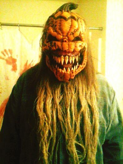 Holloween done right Scary Holloween2015 Pumpkin Head Costume