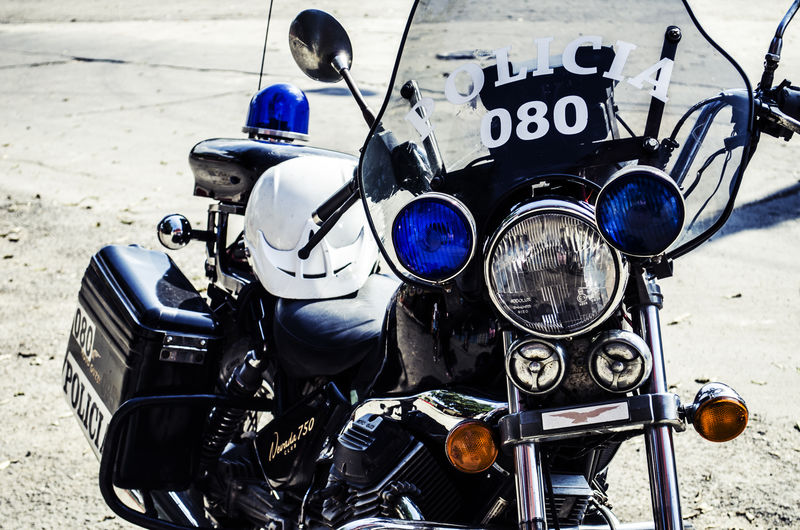 Outdoors Day Close-up Time No People Motor Vehicle Motorcycles Motor Police Policia Police