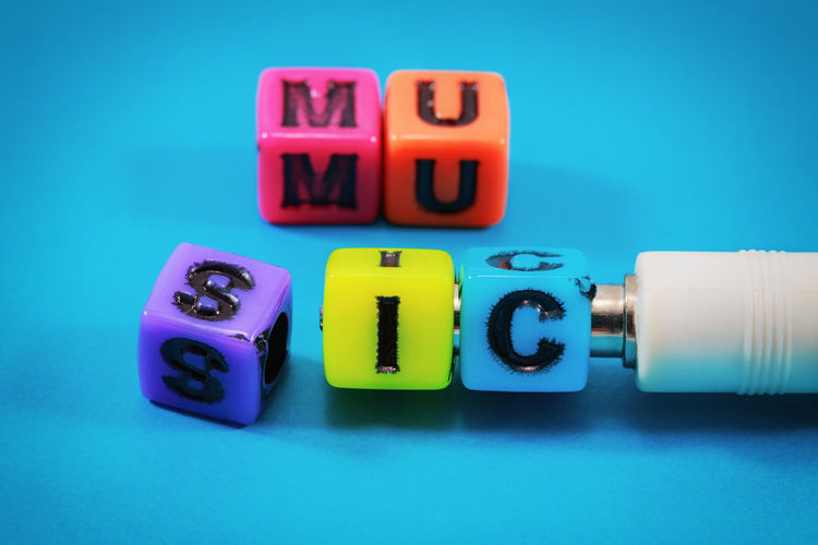 Alphabet Architecture Colors Music Plug Stylish Text Abstract Backgrounds Blue Colorful Cube Dice Electronics  Ideas Lifestyles Message Metal Musical Musician Plastic Present Song Tercet Vintage