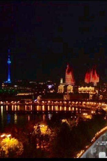 TV ve Ateş Kuleleri-Bakü Tv and Flame Towers-Baku Azerbeycan Architecture Azerbeycan  Tower Travel