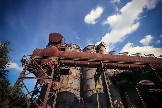 An industrial day. Enjoy ) Amazing Bestoftheday Bestseller  Blast Furnace Contrast Day Duisburg Grid Gris Hall Hochofen Industrial Industrie Mall Nature Opposite Rust Sky Steam Punk WOW