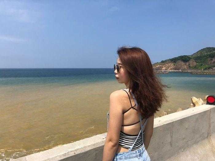 The sea has