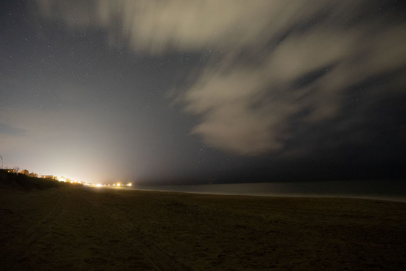 night shot of the pier Shore Stars Clouds And Sky Beach HUAWEI Photo Award: After Dark Astronomy Galaxy Space Astrology Sign Star - Space Constellation Sea Sky Landscape Light Painting Long Exposure Nebula