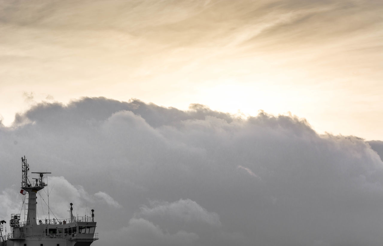 cloud - sky, sky, outdoors, nature, no people, nautical vessel, day, beauty in nature, technology, architecture