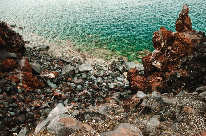 in ternate city. Beach Beauty In Nature Day Green Color Green Water Nature No People Outdoors Pure Pure Water Rock Rock - Object Rock Formation Scenics Sea Stone Tranquil Scene Tranquility Travel Travel Destinations Water The Week On EyeEm