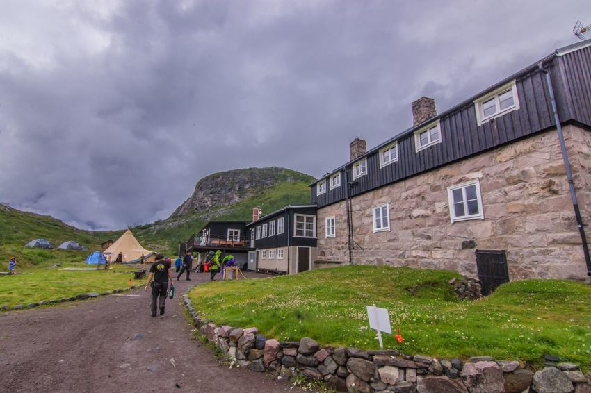 Built Structure Building Exterior House Sky Mountain Person Outdoors Storm Cloud Fjallravenclassic Lappland Sweden