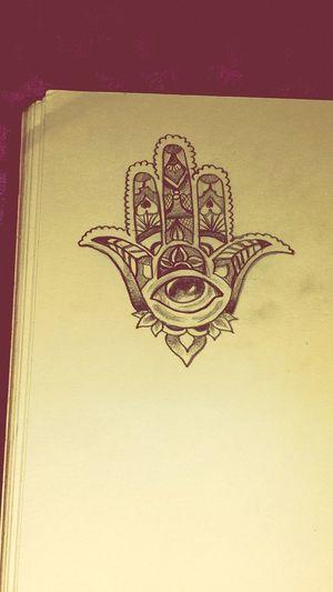 Doodling Hamsa Hand Tattoo Ideas👌