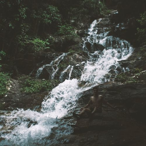 Motion Nature Beauty In Nature Water Scenics Forest No People Tranquil Scene Tree Outdoors Tranquility Waterfall Day