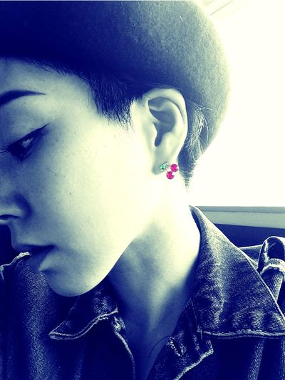 Cherry Red Bw_collection Taking Photos That's Me Blackandwhite Earring