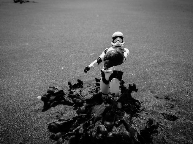Beach Beach Day Beach Life Beach Photography Beach Time Beachlife Beachphotography Black & White Black & White Photography Black And White Black And White Photography Figurephotography Miniature Monochrome Monochrome Photography Star Wars Starwars Stormtrooper The Force Awakens
